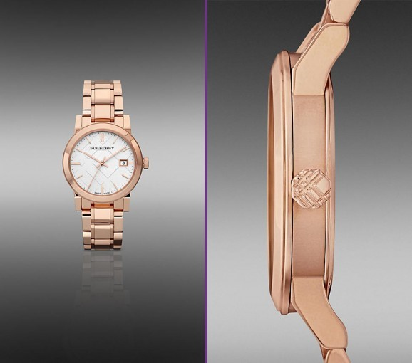 Burberry Watches for Women as Branded Collection of Rose-Gold-Plated Watch
