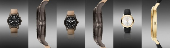 Burberry Men Watch with Leather Strap as Latest Fashion Collection