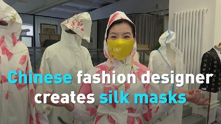 Chinese fashion designer creates silk masks