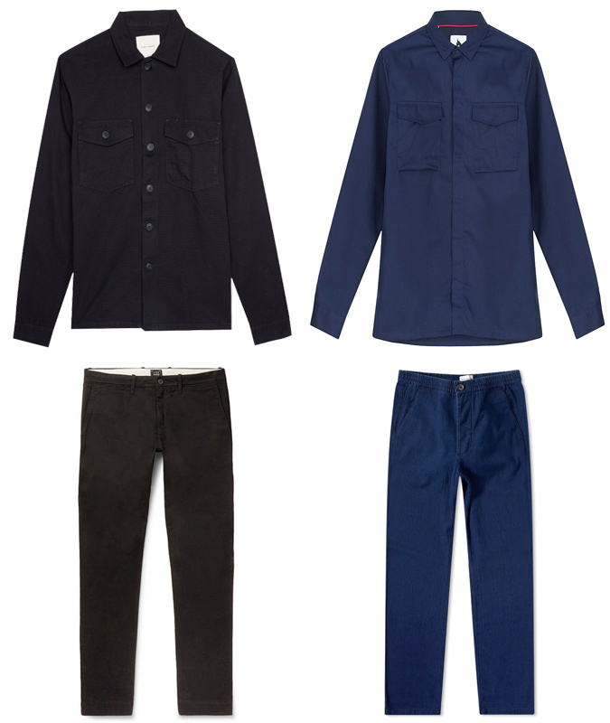 Work shirt and shirt trousers