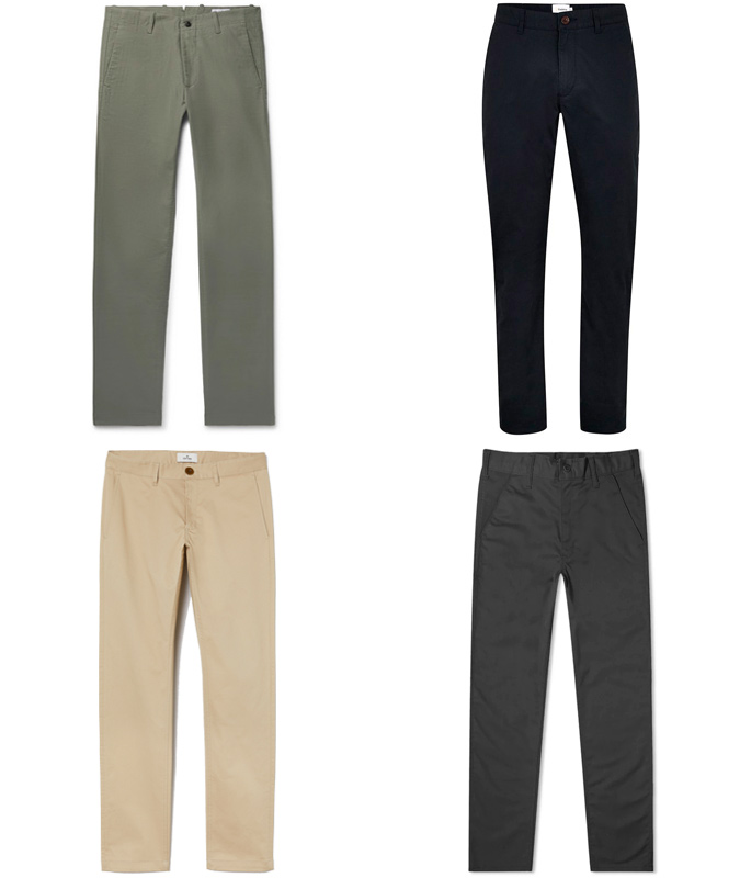the best twill cotton chinos for men