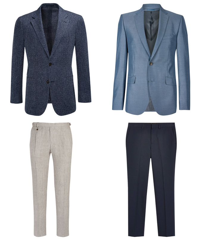 Textured jackets and trousers