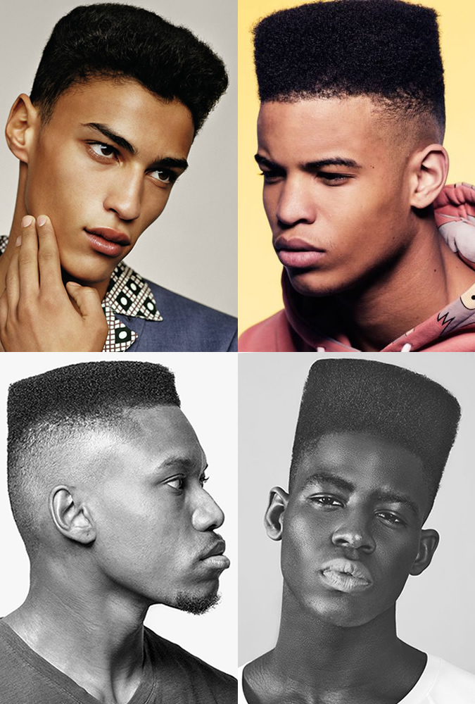 Modern Men's High-Top and Low-Top Fades