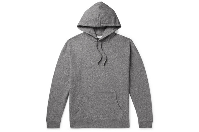 SUNSPEL Mélange Loopback Cotton-Jersey Hoodie