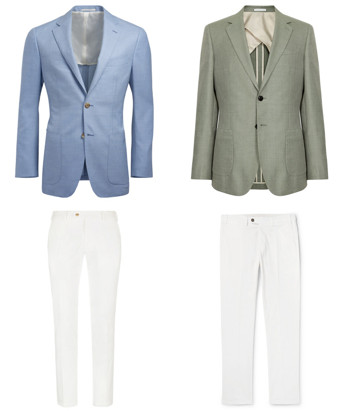 White trousers with a blazer