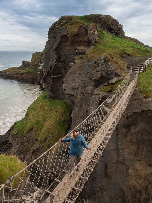Deb Carrick-a-Rede rope bridge