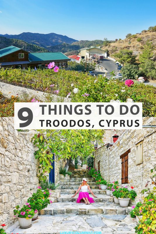 9 great things to do in the Troodos Mountains and Lofou, Cyprus from climbing to visiting wineries and seeing how traditional spoon sweets are made. | #Cyprus | #Europe | #TravelTips