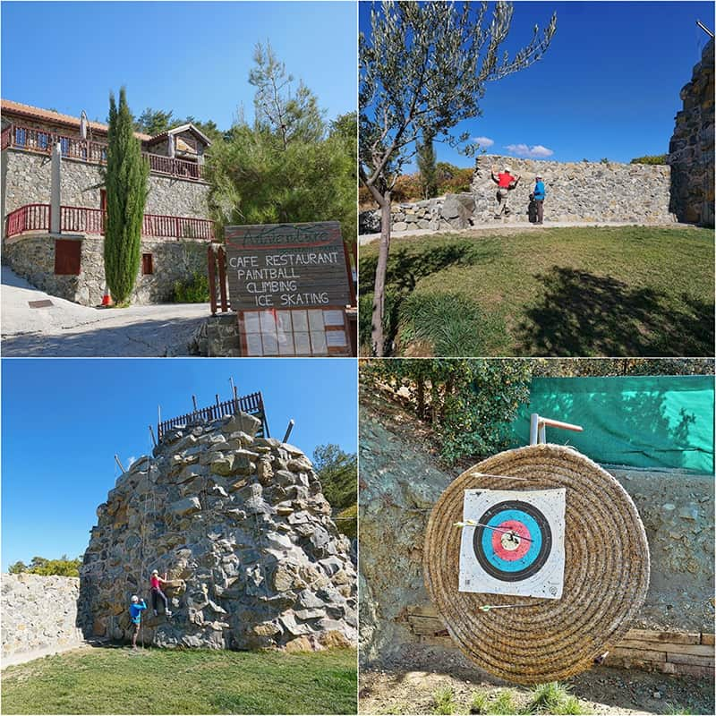 Archery and climbing at the Mountain Adventure Park in the Troodos Mountains, Cyprus