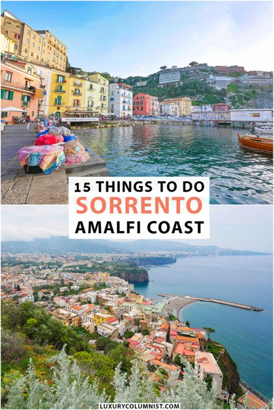 15 Best Things to Do in Sorrento Italy   This cliffside Amalfi Coast town has many historical attractions   #AmalfiCoast   #Sorrento   #Italy   #TravelTips
