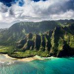 Aerial view of Hawaiian islands