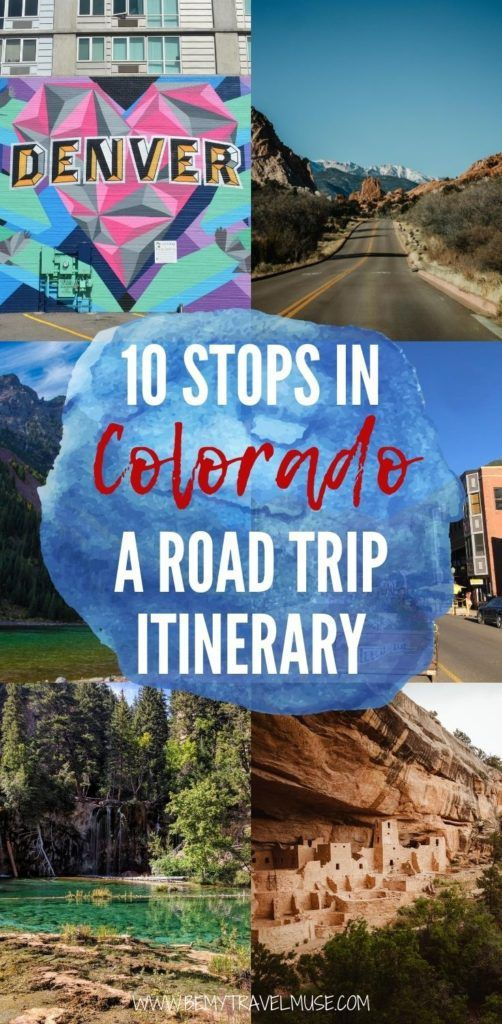 The 10 best stops in Colorado for an epic road trip. Explore Denver, Rocky Mountain National Park, Garden of the Gods and so much more with this road trip itinerary. Get insider tips and accommodation guide to help you plan your road trip to Colorado! #Colorado