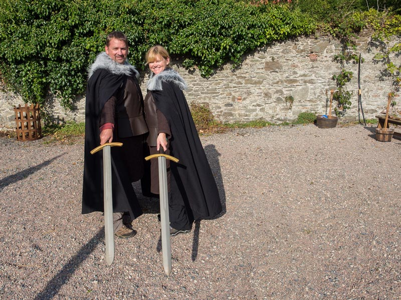 deb and dave with swords