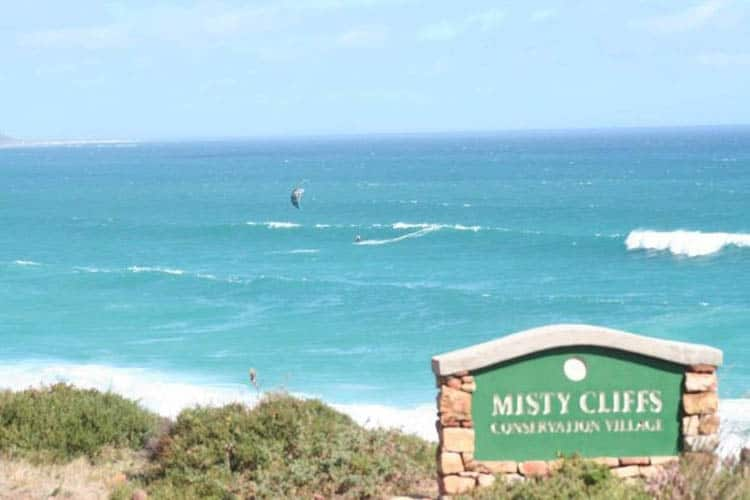 misty cliffs sign cape town south africa