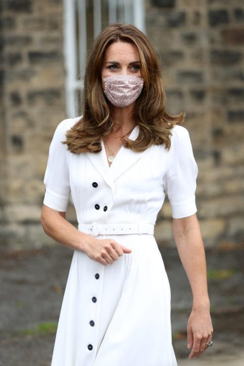 kate middleton floral mask