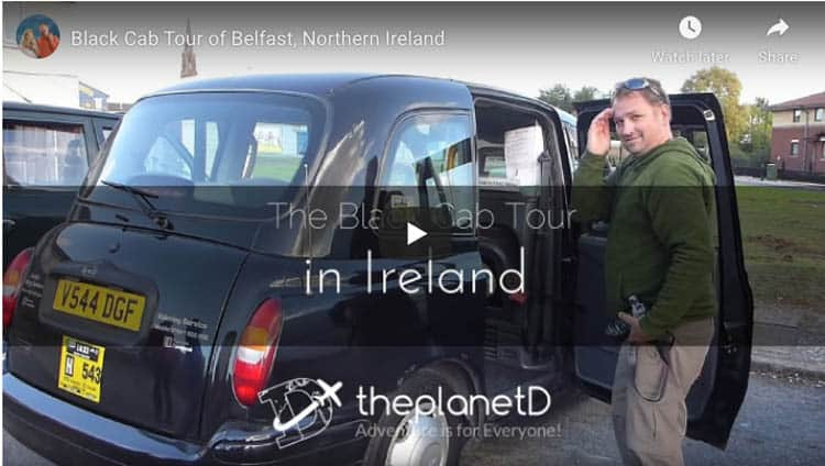 things to do in Belfast | black taxi tour