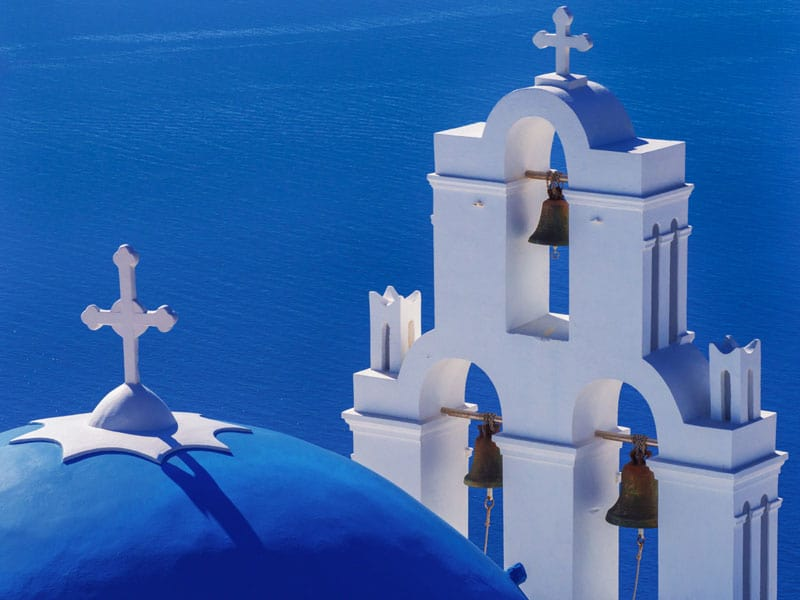 what to do in Santorini | three bells of Fira