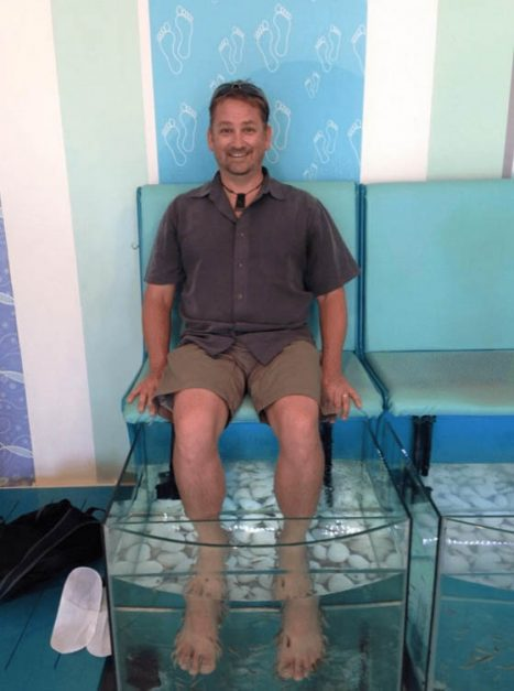 unique things to do in santorini | fish spa