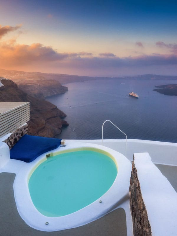 things to do in santorini | cave hotel