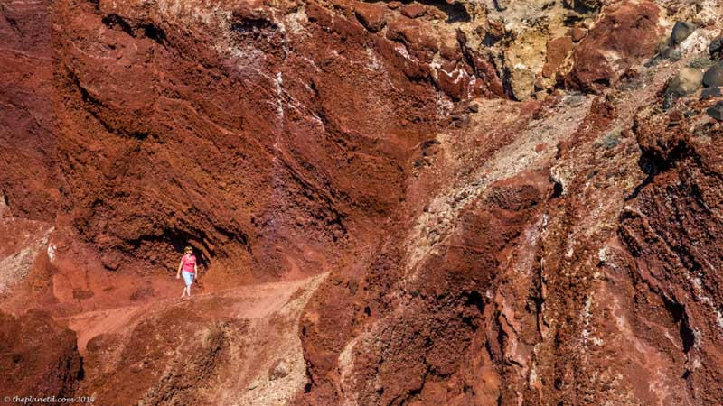 what to see in santorini beaches red beach