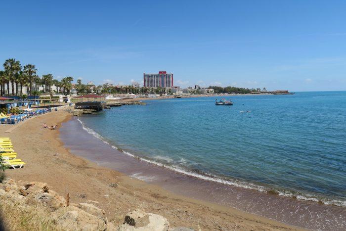 Hotels at Lara Beach in Antalya, Turkey photo via Depositphotos