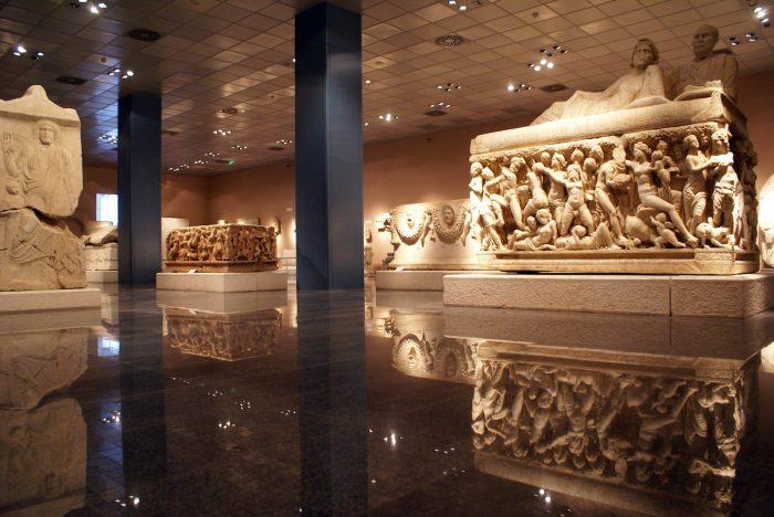 Inside Antalya Museum in Turkey photo via Depositphotos