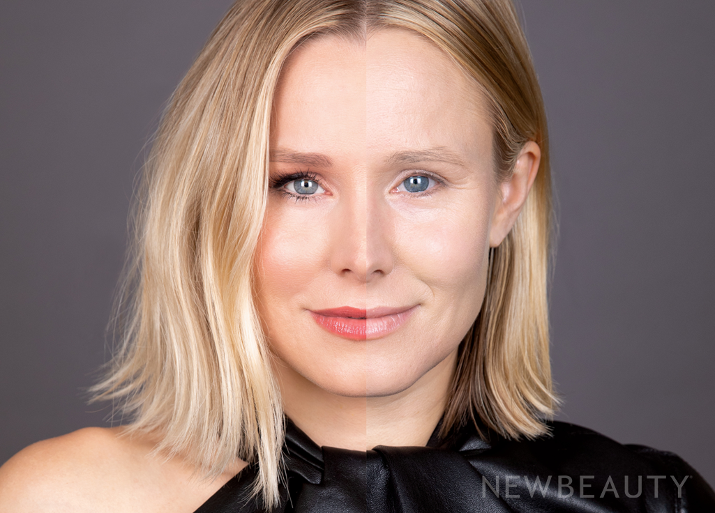 From Bare-Faced to Full-On Glam: An Inside Look at Kristen Bell's Glowing-Skin Split Cover Shot – NewBeauty
