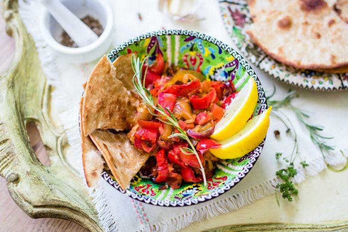 Roasted mediterranian vegetables via Depositphotos