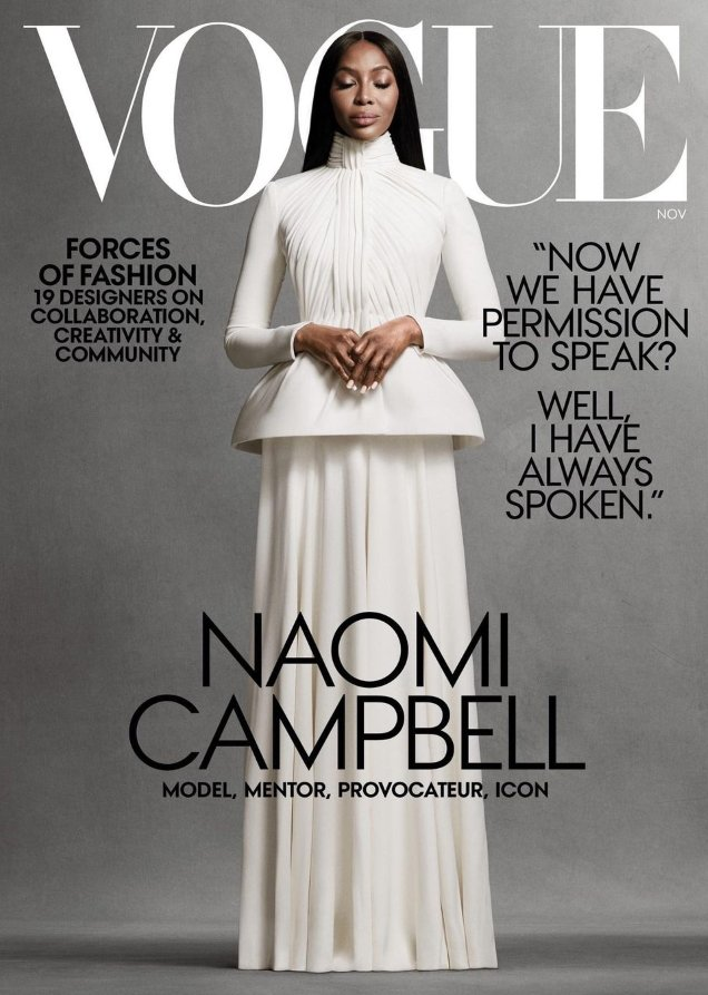 US Vogue November 2020 : Naomi Campbell by Ethan James Green