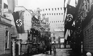 Nazi flags Saarbrucken 1935